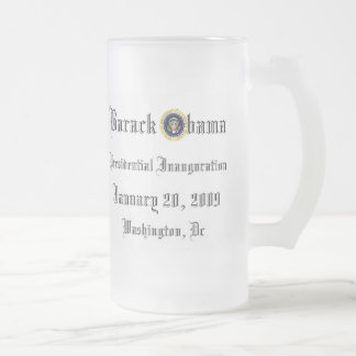 Obama Inauguration Souvenir Collectors Frosted Mug