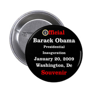 Obama Inauguration Souvenir Collectors Pinback Button