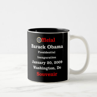 Obama Inauguration Souvenir Collectors Two-Tone Coffee Mug