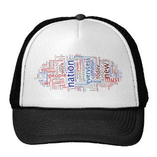 Obama Inauguration Speech Tagcloud Trucker Hat