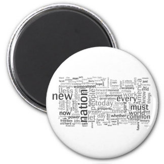 Obama Inauguration Speech Tagcloud Magnet