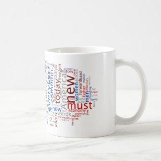 Obama Inauguration Speech Tagcloud Mug