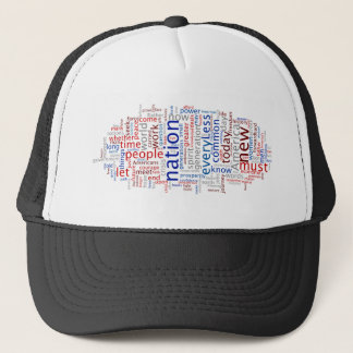 Obama Inauguration Speech Tagcloud Trucker Hat