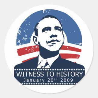 Obama Inauguration Classic Round Sticker