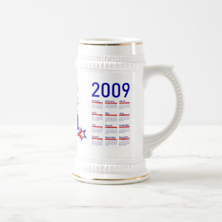 Obama Inauguration with 2009 Calendar 18 Oz Beer Stein