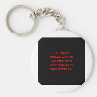 obama incompetent jerk before popular basic round button keychain