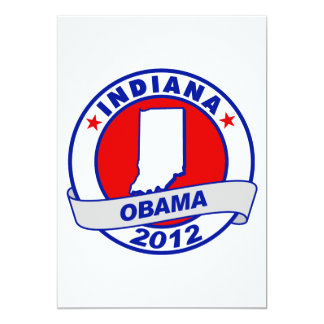 Obama - Indiana 5x7 Paper Invitation Card