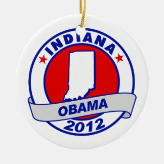 Obama - Indiana Christmas Tree Ornaments