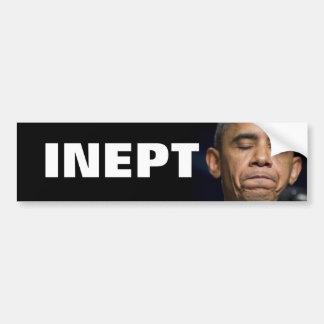 Obama - INEPT Bumper Stickers