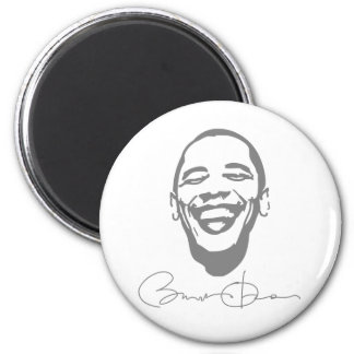 Obama Infectious Smile Signature Magnet` 2 Inch Round Magnet