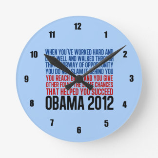 Obama inspirado relojes de pared