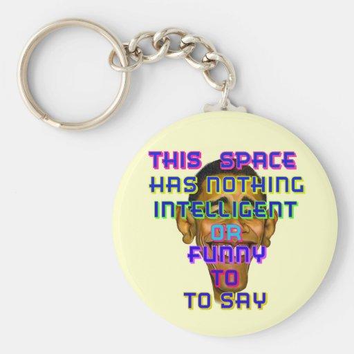 Obama inteligente llavero redondo tipo pin