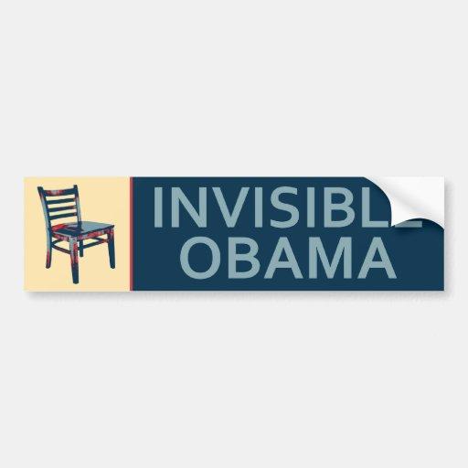 Obama invisible - la sátira política de la silla pegatina para coche