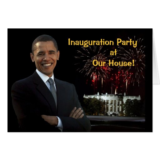 Obama Invitation Inauguration Party Our House Cards