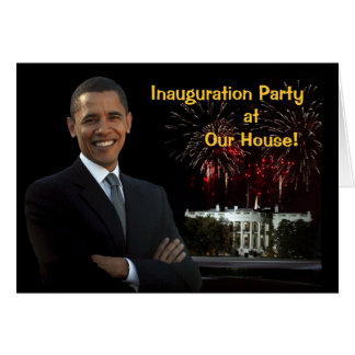 Obama Invitation Inauguration Party Our House Stationery Note Card