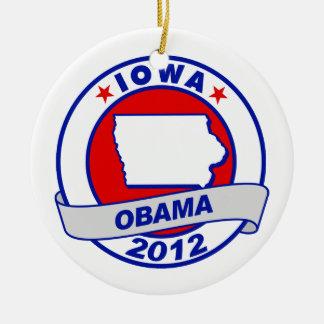 Obama - Iowa Ceramic Ornament