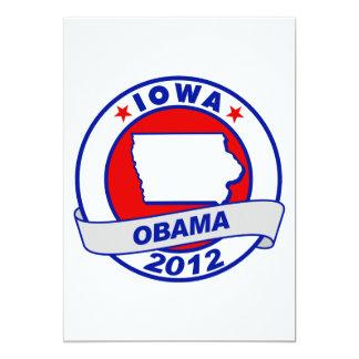 Obama - Iowa 5x7 Paper Invitation Card