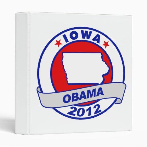 Obama - Iowa Vinyl Binders
