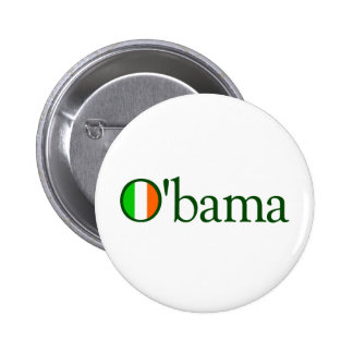 Obama Irish Pinback Button