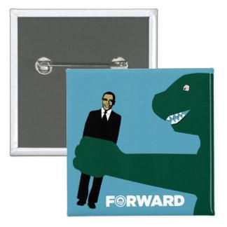 Obama irónico delantero - botón japonés del monstr pin