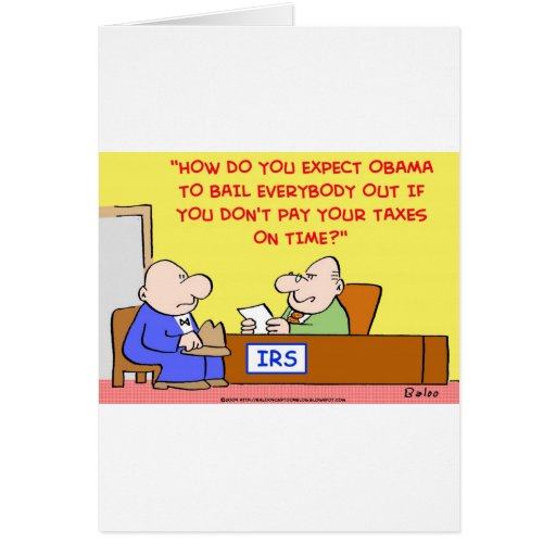 OBAMA IRS BAILOUT CARD