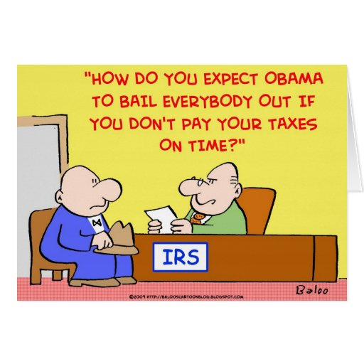 OBAMA IRS BAILOUT CARDS