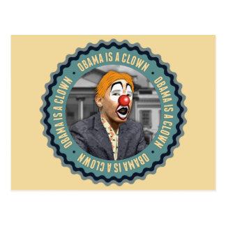 Obama Is A Clown Postcard