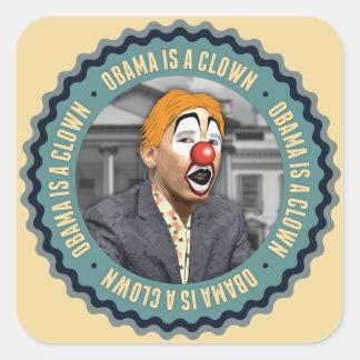 Obama Is A Clown Square Sticker