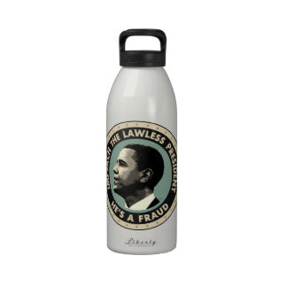 Obama Is A Fraud Water Bottle