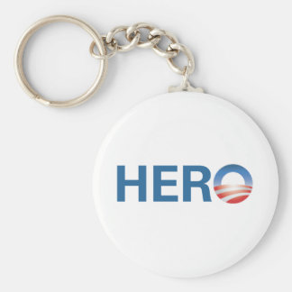 Obama is a HERO! Keychain