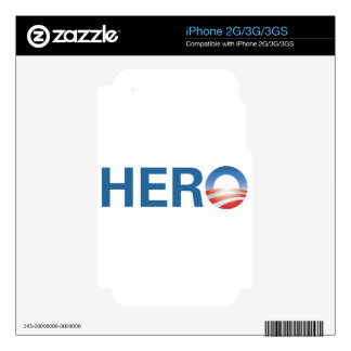 Obama is a HERO! Decal For iPhone 2G