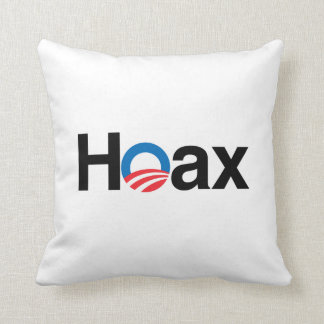 OBAMA IS A HOAX THROW PILLOW