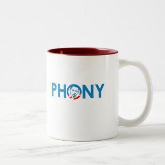 OBAMA IS A PHONY COFFEE MUG
