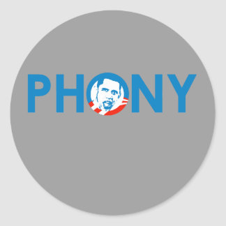 OBAMA IS A PHONY STICKERS