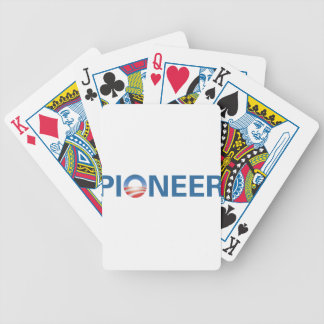 Obama is a Pioneer. Bicycle Playing Cards