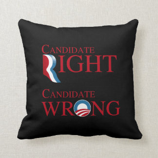 OBAMA IS CANDIDATE WRONG THROW PILLOWS