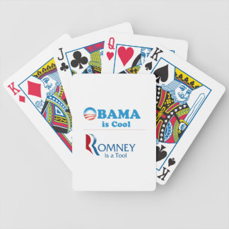 Obama is Cool - Romney is a Tool Bicycle Playing Cards
