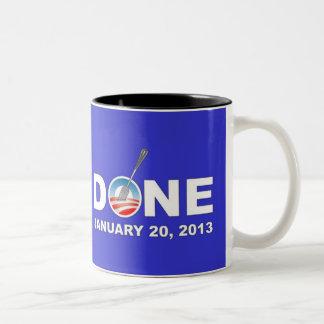 Obama is Done Two-Tone Coffee Mug