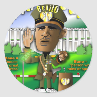Obama is King of Bane Classic Round Sticker