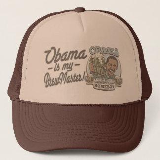 Obama is my Brewmaster by Buttonzup Trucker Hat