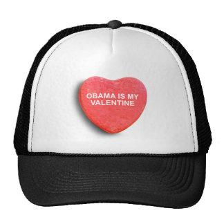 OBAMA IS MY VALENTINE MESH HAT