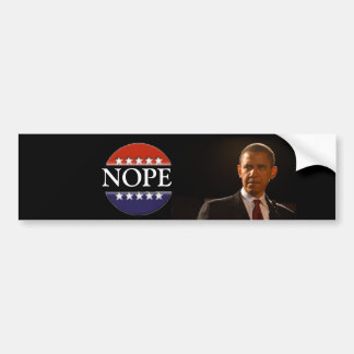 Obama is not hope bumper stickers