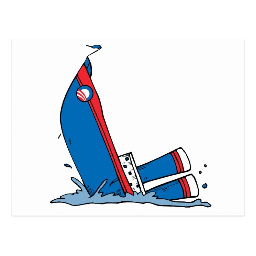 OBAMA IS SINKING FAST POST CARD