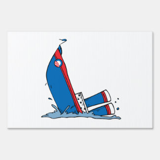 OBAMA IS SINKING FAST YARD SIGN