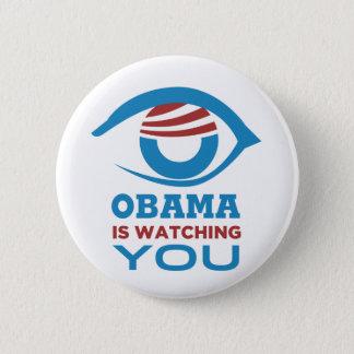 Obama is WATCHING YOU Obama Eye PRISM Pinback Button