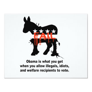 """Obama is what you get when 4.25"""" x 5.5"""" invitation card"""