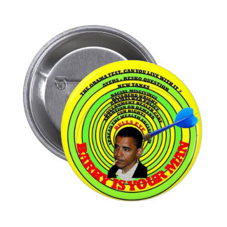obama is your man pinback button