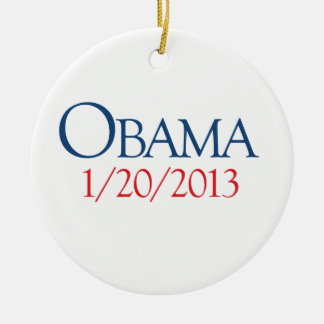 OBAMA JANUARY 20 -.png Double-Sided Ceramic Round Christmas Ornament