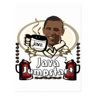 Obama Java Jumpstart Postcard