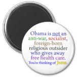 Obama & Jesus 2 Inch Round Magnet